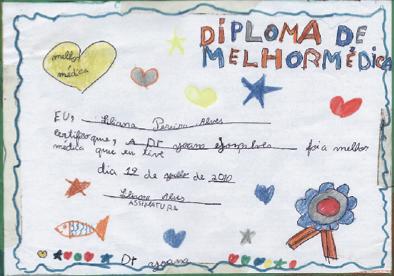Diploma de melhor médica